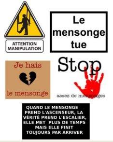attention mensonge