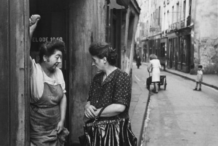 Rudy Burckhardt - Two Women Talking in Doorway, Paris, 1934