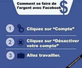 De l'argent avec Facebook